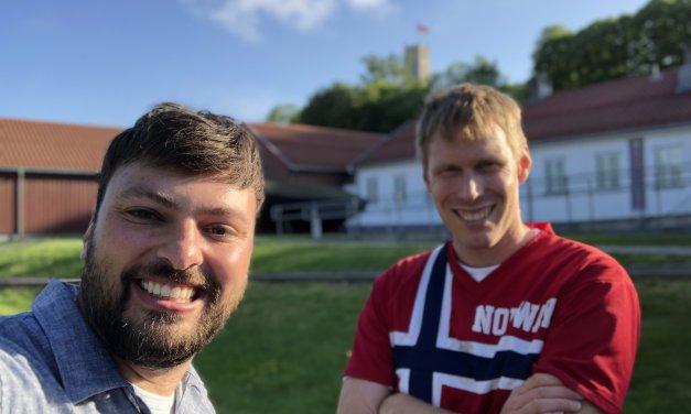 Fredag 7. Juni Paul Rapley kom på besøk til Tønsberg
