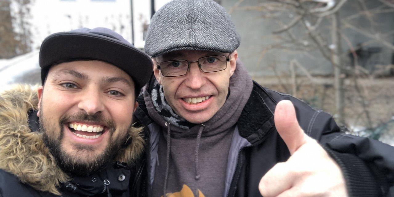 Levi Jensen og Daniel Haddal på gaten Mars 2019