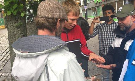 Lørdag 8 juni- Evangeliserings-trening på gata md Paul Rapley